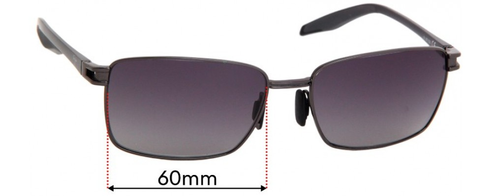Sunglass Fix Replacement Lenses for Maui Jim Cove Park MJ531 - 60mm wide