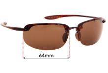 Sunglass Fix Replacement Lenses for Maui Jim Ho'okipa MJ807 - 64mm wide