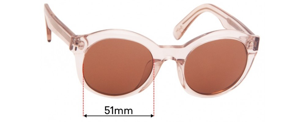 Maui Jim MJ209 Replacement Sunglass Lenses - 55mm Wide