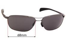 Sunglass Fix Replacement Lenses for Maui Jim Kahului Harbor MJ325 - 68mm wide