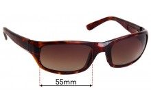 Maui Jim MJ103 Stingray Replacement Sunglass Lenses - 55mm Wide