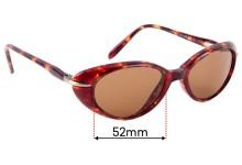 Maui Jim MJ147 Replacement Sunglass Lenses - 52mm Wide