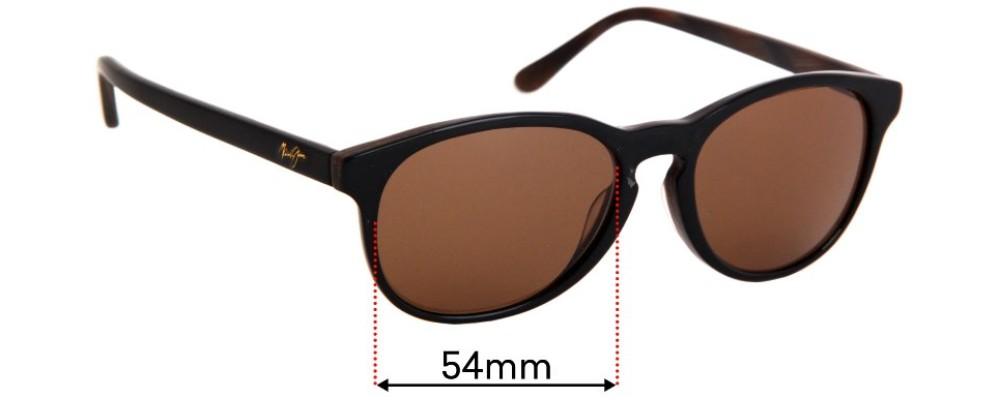 Sunglass Fix Replacement Lenses for Maui Jim MJ238 Pau Hana - 54mm wide