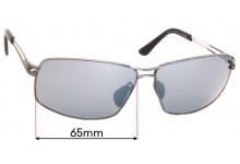 Maui Jim MJ276 Manu Replacement Sunglass Lenses - 65mm Wide