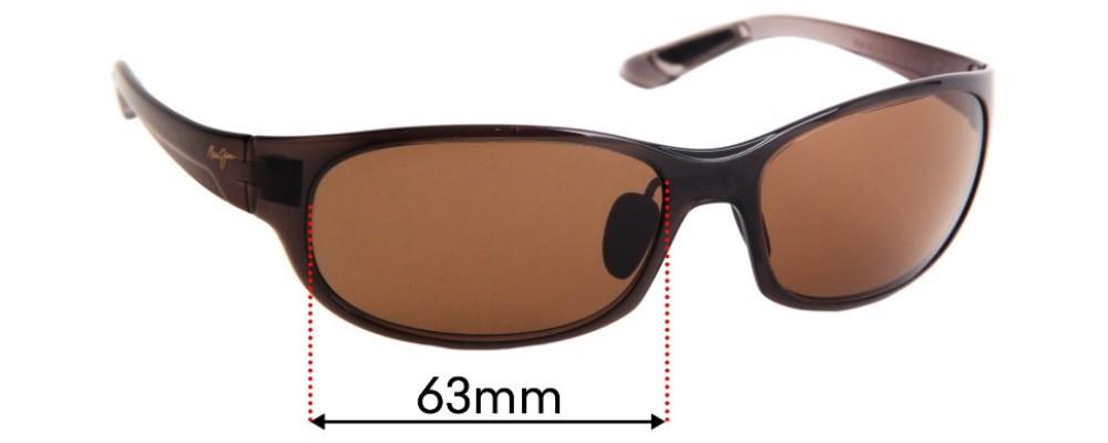 Maui Jim Twin Falls MJ417 Replacement Sunglass Lenses - 63mm Wide