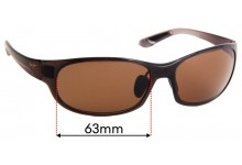 Maui Jim Twin Falls MJ417 Replacement Sunglass Lenses - 63mm Wide