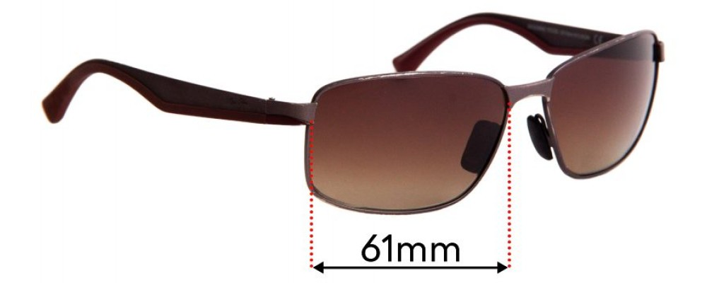 Maui Jim Backswing MJ709 Replacement Sunglass Lenses - 61mm Wide