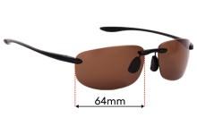 Maui Jim Ho'okipa MJ907 Replacement Sunglass Lenses - 64mm Wide