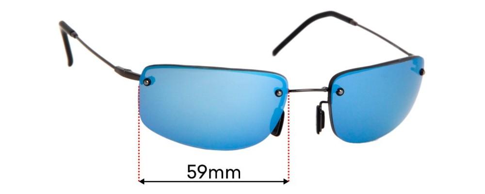 Maui Jim Pali MJ352 Replacement Sunglass Lenses - 59mm Wide
