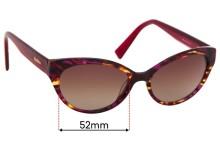 MaxMara MM 1227 Replacement Sunglass Lenses - 52mm Wide