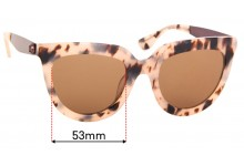 Mimco Perplex Replacement Sunglass Lenses - 53mm wide