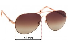 Mimco Wanderer Replacement Sunglass Lenses - 64mm Wide