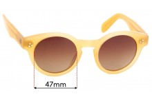 Sunglass Fix Replacement Lenses for Moscot Originals Grunya - 47mm wide