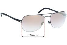 Mykita Jim Replacement Sunglass Lenses - 55mm wide