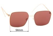 Sunglass Fix Replacement Lenses for Mykita & Bernhard Willhelm Sepp - 63mm
