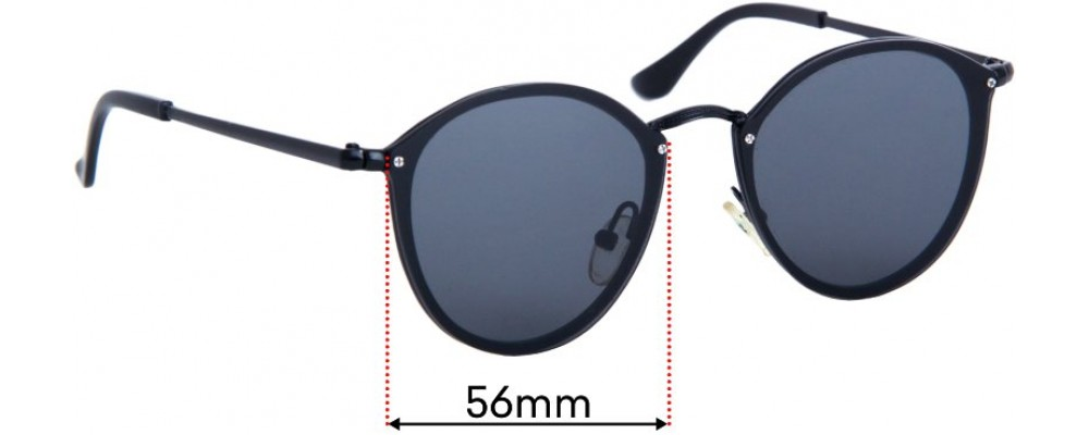 Sunglass Fix Replacement Lenses for The Nolan Bros Classic - 56mm wide