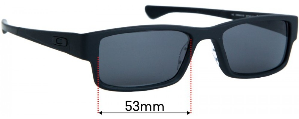 Sunglass Fix Replacement Lenses for Oakley Airdrop OX8046 - 53mm wide