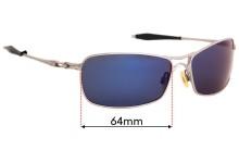 Sunglass Fix Replacement Lenses for Oakley Crosshair 2.0 - 64mm wide