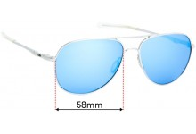 Sunglass Fix Replacement Lenses for Oakley Elmont M OO4119 - 58mm wide