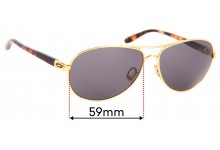 Oakley OO4079 Feedback Replacement Sunglass Lenses - 59mm wide