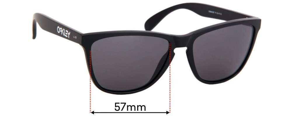 Oakley Frogskins OO9444 Replacement Sunglass Lenses 57mm Wide