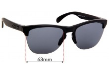 Sunglass Fix Replacement Lenses for Oakley Frogskins OO9374 - 63mm Wide