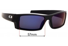 Sunglass Fix Replacement Lenses for Oakley Gascan S - 57mm wide