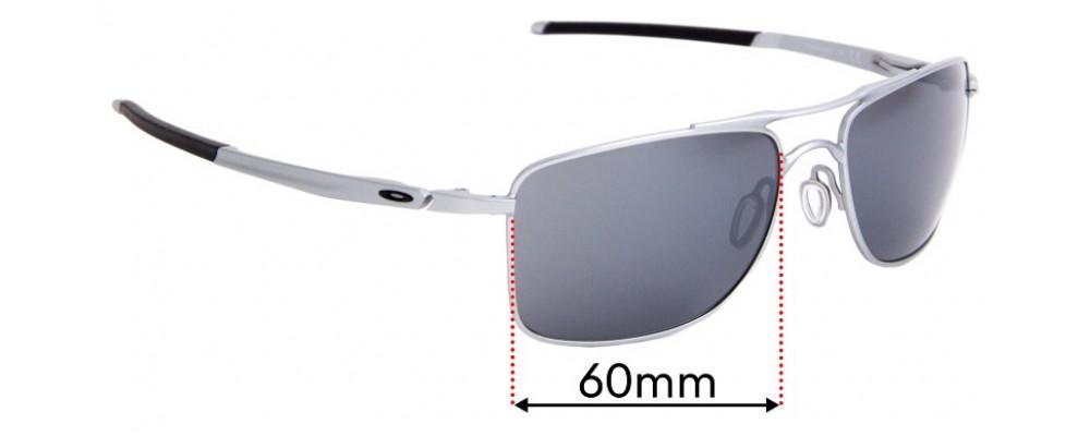 Sunglass Fix Replacement Lenses for Oakley Gauge 8 OO4124 - 62mm Wide
