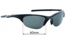 Sunglass Fix Replacement Lenses for Oakley Half Jacket - 60mm Wide
