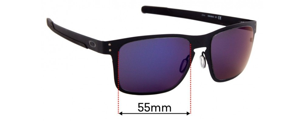 Oakley Holbrook Metal OO4123 Replacement Sunglass Lenses - 55mm Wide