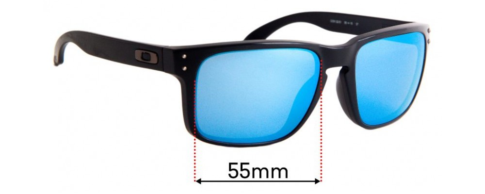 Oakley Holbrook OO9102 Replacement Sunglass Lenses - 55mm Wide