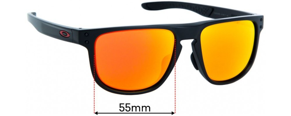 Sunglass Fix Replacement Lenses for Oakley Holbrook R OO9379 - 55mm wide
