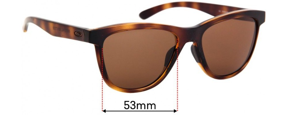 Sunglass Fix Replacement Lenses for Oakley Moonlighter OO9320 - 53mm wide