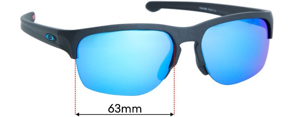 Sunglass Fix Replacement Lenses for Oakley Sliver Edge OO9414 (Asian Fit) - 63mm wide