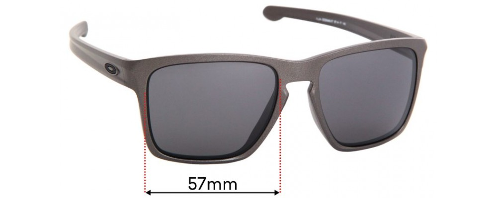 Oakley Sliver XL OO9346 (Asian Fit) Replacement Sunglass Lenses - 57mm Wide