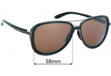 Sunglass Fix Replacement Lenses for Oakley Split Time OO4129 - 58mm wide