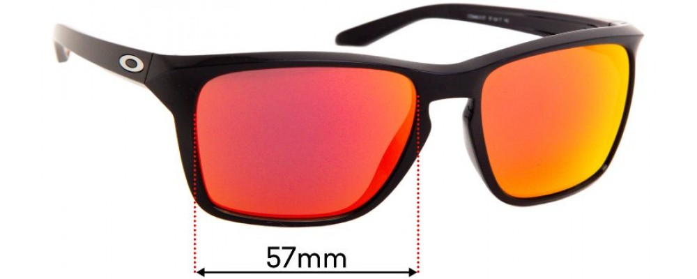 Oakley Sylas OO9448 Replacement Sunglass Lenses - 57mm Wide