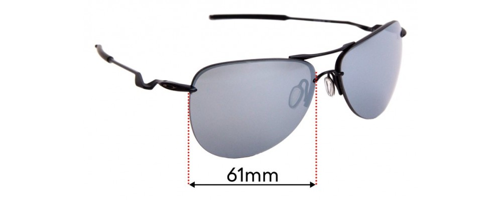 Sunglass Fix Replacement Lenses for Oakley Tailpin OO4086 - 61mm Wide