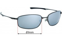 Sunglass Fix Replacement Lenses for Oakley Taper OO4074 - 61mm wide
