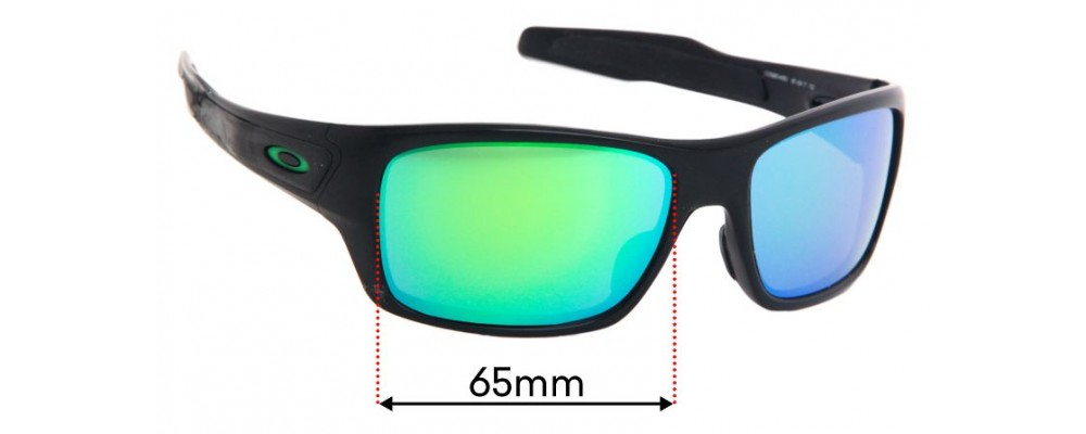 Oakley Turbine OO9263 Replacement Sunglass Lenses - 65mm wide