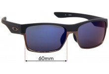 Sunglass Fix Replacement Lenses for Oakley Two Face OO9256 Asian Fit - 60mm Wide