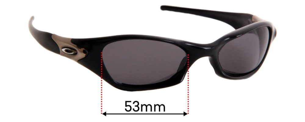 Oakley Valve Replacement Sunglass Lenses - 53mm wide