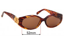 Oroton 1184 HI Replacement Sunglass Lenses - 52mm Wide