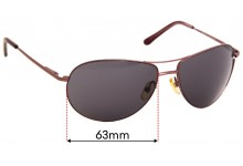 Oroton Oahu Replacement Sunglass Lenses - 63mm Wide