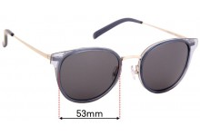 Oscar Wylee Aries Replacement Sunglass Lenses - 53mm Wide
