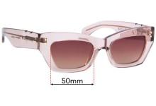 Sunglass Fix Replacement Lenses for Pared Bec + Bridge Petite Amour - 50mm wide