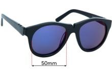 Sunglass Fix Replacement Lenses for Pared Salt & Pepper - 50mm wide