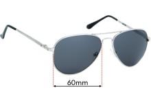 Polar 664 Replacement Sunglass Lenses - 60mm Wide