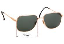 Sunglass Fix Replacement Lenses for Pole Optik MOD 9436 - 55mm Wide