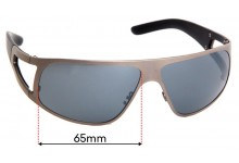 Porsche P 8457 Replacement Sunglass Lenses - 65mm Wide